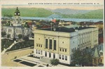 Bird's eye view showing city hall and court house, Huntington, W. Va., 1926.