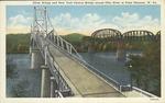 Silver Bridge & NYC Bridge across Ohio River at Point Pleasant, W.Va.