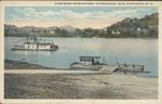 River scene, showing ferry to Chesapeake, Ohio, Huntington, W. Va., ca. 1910.