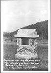 Monument marking birth place of Nancy Hanks, near Antioch, W.Va.