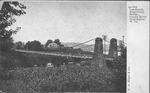 An old landmark, suspension bridge, Guyan river, Huntington, W. Va., undated.