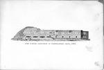 Fort Sumter, 1865, elevation of northeastern front