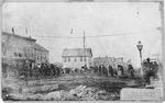 Tight rope walker, 3rd Ave at 9th Street, Huntington, WVa, 1878