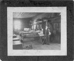 Spanish American War, soldier inside barricks, Sullivan Island, S.C