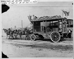 Hagenbach and Wallace Circus, unloading in Huntington, 1900