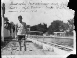 Chick Enslow at Camden park swimming pool, 1910