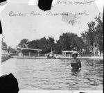 Hewitt at Camden park swimming pool, 1910