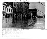Flood of 1913, looking east toward 11th St. on 3rd Ave