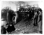 Guyandotte C&O Railroad bridge, Jan. 1913