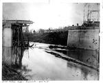 Guyandotte C&O Railroad bridge, 1913 flood