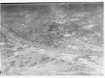 Aerial view of Huntington,WVa with 6th Street Bridge & Ohio River, ca. 1930's