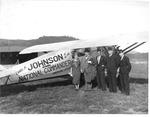 Dignitaries at Air Meet, Huntington WVa airport, Sept. 8, 1931