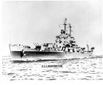 The ship USS Huntington, probably during WWII
