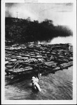 Harry Wright and Chester Owens in the Guyan River at Guyandotte, W.Va,1915