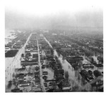Aerial view: looking west toward downtown, Huntington,WVa 1937 Flood
