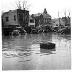 Cars in front of McColm Monument Co., Huntington, Wva,1937 Flood