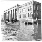 U.S. Coast Guard boat transporting people, Huntington, Wva,1937 Flood