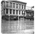 Star Furniture Co., and Boggess Drug Store, Huntington, Wva,1937 Flood