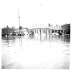 Unidentified gas station, East end of Huntington, Wva,1937 Flood