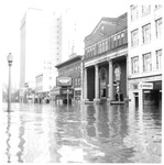 Orpheum Theatre & Elks Club Bldg. Huntington, Wva,1937 Flood
