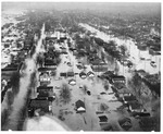 Aerial view, from West end, looking east, Huntington, Wva,1937 Flood