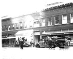 Fire truck in front of Style Shop, Dunfee Boot Shop, Huntington, Wva,1937 Flood