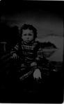 Tintype of little girl sitting