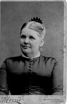 Cabinet card of Mrs. Carnes
