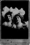 Cabinet card of Hengler Sisters