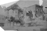 Horse and wagon with Ham Dickey