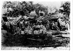Threshing at Grandpas, horsepower thresher, Bull Run, Roane County, near Spencer, 1897