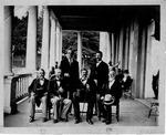 Group of celebrities at White Sulphur Springs, W.Va., General Robert E. Lee, , General Jno. E. Johnston, Curtis Lee, J. Wm. Jones