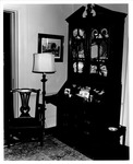 Chippendale Secretary desk - west wall of living room of Taylor Vinson home, 1429 5th Ave.