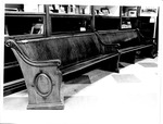 Cabell-Wayne Historical Society Exhibit, church pew