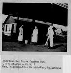 Mrs. Wilcoxen, Mrs. Heinish, Mrs. Millineaux, American Red Cross Canteen Hut, C&O Station W.W.I