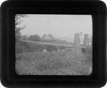 Suspension bridge, Guyandotte, ca. 1900.
