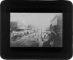 Circus parade up 3rd ave., Huntington, W. Va., ca. 1885.