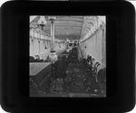 [Interior of steamboat, ca. 1885.]