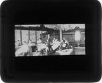 [Barber shop interior, Huntington, W. Va., ca. 1880.]