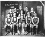 Cam Henderson with Bristol High School team, 1916