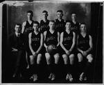 Cam Henderson (in suit) & Bristol Hi basketball team, 1919