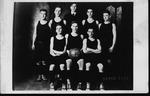 Cam Henderson (center, back row) & Bristol Hi basketball team, 1916