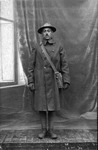 Dinsmore Alley in WWI army uniform, ca. 1918