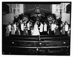 Camille Henderson and O. C. Halyard being married, Aug. 1952