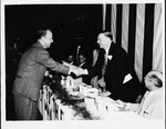 Cam Henderson being made a Kentucky Colonel, 1954