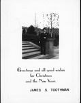 Christmas greeting card with photo of James S. Toothman