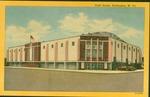Postcard view of Memorial Field House, Huntington, WV 1956