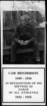 Recognition notice for Cam henderson, Davis & Elkins College, 1935
