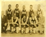Cam Henderson with Davis and Elkins basketballt team, 1934