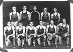 Cam Henderson with Marshall basketballt team, 1942